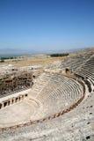 Amphitheatre de Hierapolis antigo fotografia de stock royalty free