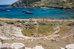 Amphitheatre de Knidos, Datca, Turquía imagen de archivo libre de regalías