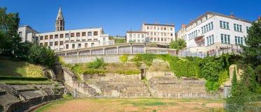 Amphitheatre de los tres Gauls en Lyon, Francia foto de archivo libre de regalías