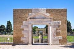 Amphitheatre de Lucera. Puglia. Italy. imagens de stock