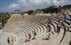Amphitheatre di Curion. La Cipro Fotografia Stock