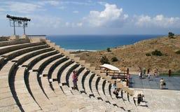 Amphitheatre di Curion. La Cipro immagini stock libere da diritti