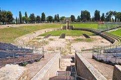 Amphitheatre di Lucera. La Puglia. L'Italia. Fotografia Stock Libera da Diritti
