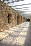 Amphitheatre do EL Djem, corredores subterrâneos fotografia de stock
