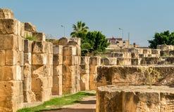 Amphitheatre El Jem, UNESCO światowego dziedzictwa miejsce w Tunezja zdjęcia royalty free