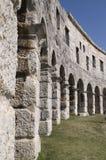 Amphitheatre em Croatia, Pula Foto de Stock
