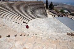 Amphitheatre em Kourion imagem de stock