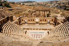 Amphitheatre en Amman, Jordania Fotografía de archivo