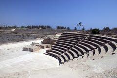 Amphitheatre en Paphos imagen de archivo libre de regalías