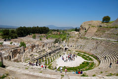 In the amphitheatre of Ephesus Stock Photos