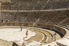 Amphitheatre of Ephesus ancient city. Stock Images