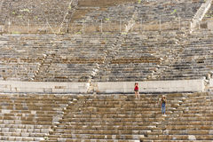 Amphitheatre of Ephesus ancient city. Royalty Free Stock Photography