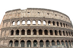 Amphitheatre Flavian Colosseum. Ancient arena isolated on a white background Stock Image