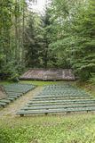 Amphitheatre in the forest Stock Photos