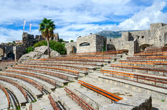 Amphitheatre in fortress Kanli Kula (Bloody Tower), Herceg Novi, Stock Photography