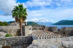 Amphitheatre in fortress Kanli Kula (Bloody Tower), Herceg Novi, Stock Photo