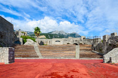 Amphitheatre in fortress Kanli Kula, Herceg Novi, Montenegro Royalty Free Stock Photo
