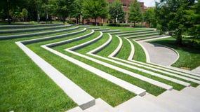 Amphitheatre herboso fotografía de archivo