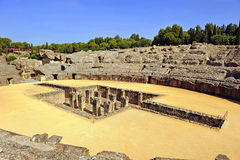 Amphitheatre of Italica, roman city in Seville, Andalusia, Spain Royalty Free Stock Image