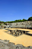 Amphitheatre of Italica, roman city in Seville, Andalusia, Spain Royalty Free Stock Photography