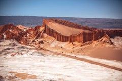 Amphitheatre jest pięknym geological formacją księżyc dolina Zdjęcia Royalty Free