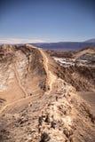 Amphitheatre jest pięknym geological formacją księżyc dolina Zdjęcie Stock