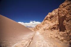 Amphitheatre jest pięknym geological formacją księżyc dolina Fotografia Stock
