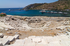 Amphitheatre of Knidos. Datca, Turkey Royalty Free Stock Photo