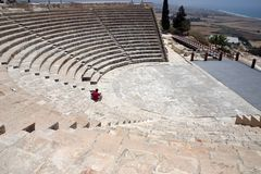 Amphitheatre a Kourion Immagine Stock