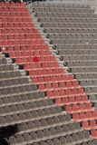 Amphitheatre. Large amphitheatre with brown and red seats Stock Photos