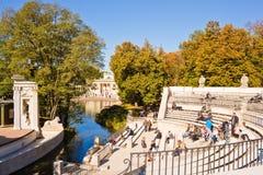 Amphitheatre in Lazienki park (Royal Baths park), Warsaw, Poland Stock Photo