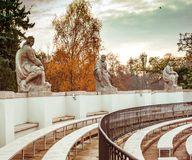 Amphitheatre in Lazienki Park Royalty Free Stock Photos