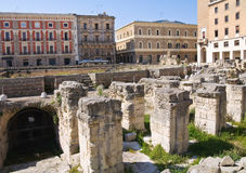 Amphitheatre. Lecce. Puglia. Italy. Stock Images