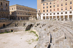 Amphitheatre. Lecce. Puglia. Italy. Royalty Free Stock Photography