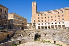Amphitheatre. Lecce. Puglia. Italy. Stock Image