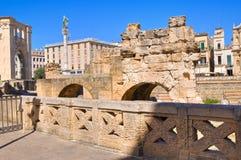 Amphitheatre. Lecce. Puglia. Italy. Stock Photos