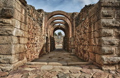 Main entrance of Amphitheatre of Merida Royalty Free Stock Photos