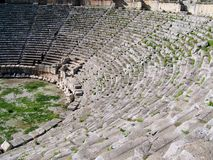 Amphitheatre Myra, Turkey. Image shows details of historic amphitheatre in Myra, Turkey Royalty Free Stock Images