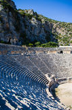Amphitheatre of Myra, Turkey. Myra is an ancient town in Lycia, where the small town of Kale (Demre) is situated today Stock Photography