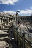 Amphitheatre in Nimes Stockbild