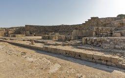 Amphitheatre nos paphos, Chipre foto de stock royalty free