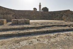 Amphitheatre nos paphos, Chipre imagens de stock royalty free