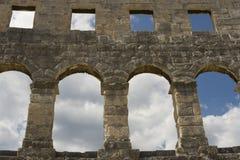 Amphitheatre nos Pula, Croatia Imagens de Stock