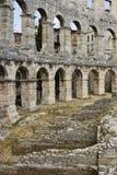 Amphitheatre nos Pula, Croatia Foto de Stock Royalty Free
