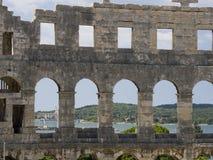 Amphitheatre nos Pula, Croatia Fotos de Stock