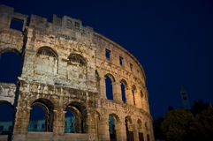 Amphitheatre nos Pula, Croatia Imagem de Stock Royalty Free