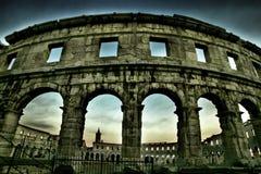 Amphitheatre nos Pula, Croatia Imagens de Stock Royalty Free