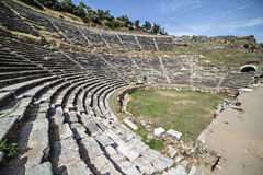 Amphitheatre of Nysa Ancient City in Aydin, Turkey Royalty Free Stock Photos