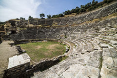 Amphitheatre of Nysa Ancient City in Aydin, Turkey Royalty Free Stock Image