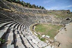 Amphitheatre of Nysa Ancient City in Aydin, Turkey Royalty Free Stock Photos
